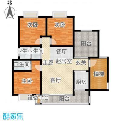 欧亚西城国际121.74㎡9#D1户型3室2厅2卫