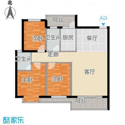 宏鑫锦江国际120.12㎡B区3#3单元3房2厅2卫户型3室2厅2卫
