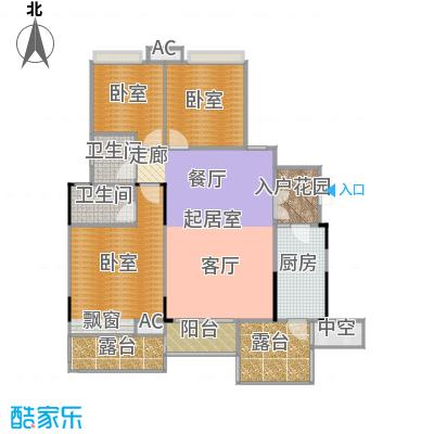 玮益上城华府115.77㎡上城华府一期四层户型3室2厅2卫1厨 115.77㎡户型3室2厅2卫