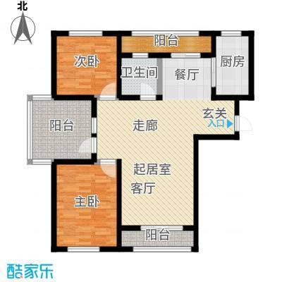 海湾壹号101.36㎡B1户型2室2厅1卫S
