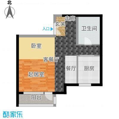 北京华侨城80.00㎡A1-1号楼D1户型1厅1卫1厨