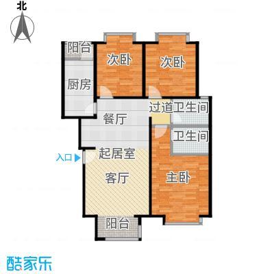 珠江御景山水俊庭户型3室2卫1厨