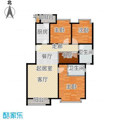 珠江御景蓝调尊邸户型4室2卫1厨
