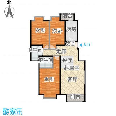 珠江御景雍景豪庭户型3室2卫1厨