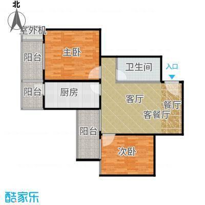 永翌公馆86.88㎡11号楼03户型2室1厅1卫1厨