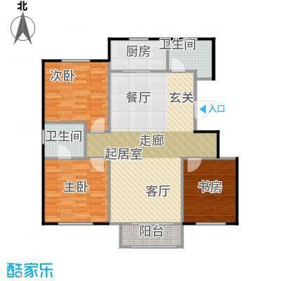 万年生态城・园博府133.00㎡D户型3室2厅2卫