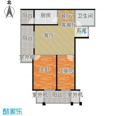 永翌公馆90.38㎡12号楼J1户型2室1厅1卫1厨