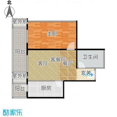 永翌公馆74.90㎡12号楼G1户型1室1厅1卫1厨