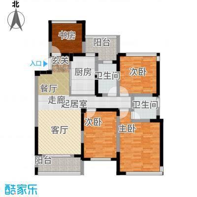 卓锦兰香E户型4室2卫1厨