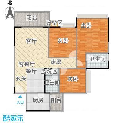 大信君汇湾117.00㎡K8栋03/06户型117平米三房两厅户型3室2厅2卫