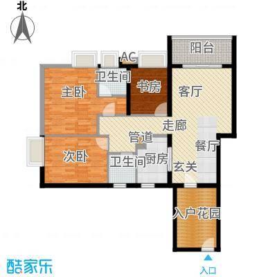佳兴大厦123.00㎡1、2单元05户型3室2厅2卫