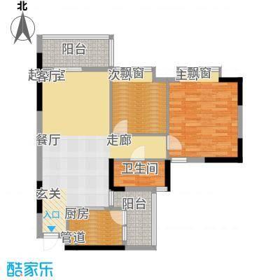 安南丽苑83.96㎡27栋04房两房两厅一卫户型2室2厅1卫