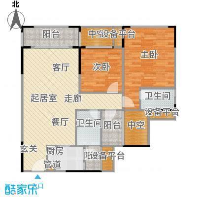 优越香格里96.47㎡3栋8栋06户型3室2厅2卫