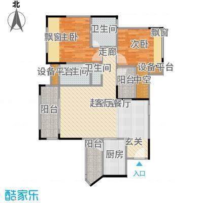 优越香格里98.30㎡3栋8栋01户型3室2厅2卫