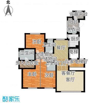 远洋・万和公馆207.00㎡B户型3室3厅3卫