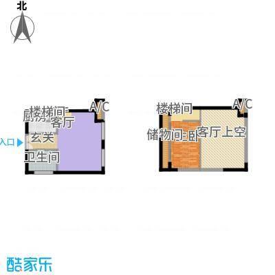 北京城建・N次方67.29㎡B3户型1室1厅1卫
