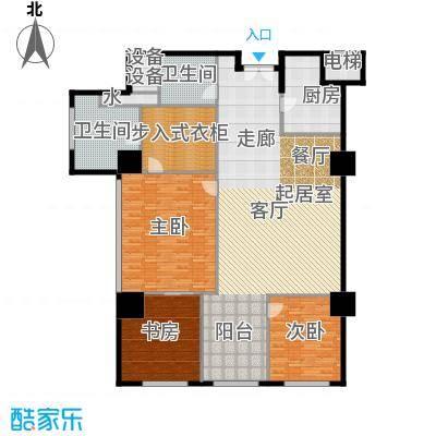 金成建国5号220.23㎡C6户型三室二厅二卫户型