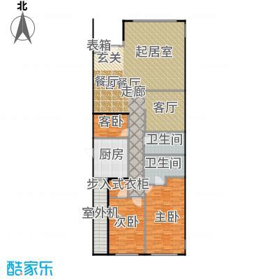 东城逸墅157.00㎡A3户型3室1厅2卫1厨