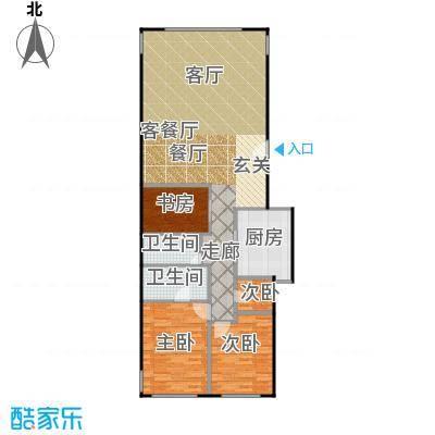 东城逸墅104.28㎡A1-A1反-A2户型4室1厅2卫1厨
