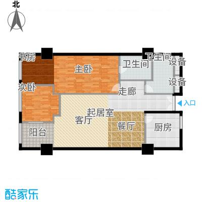 金成建国5号158.30㎡B7户型二室二厅二卫户型