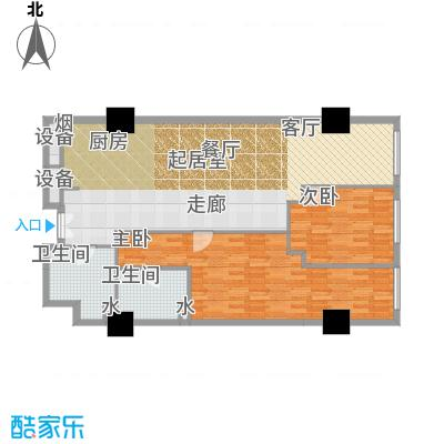 金成建国5号156.57㎡20户型二室二厅二卫户型