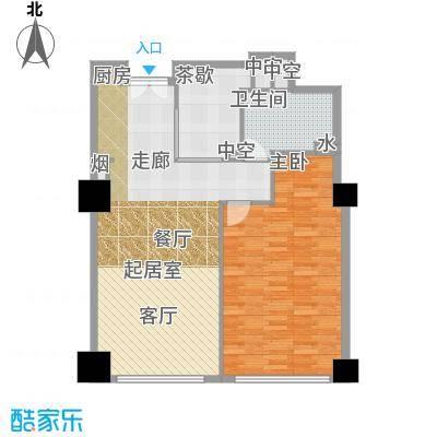 金成建国5号123.56㎡06户型一室一厅一卫户型