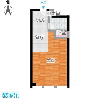 德胜凯旋公寓61.05㎡大一居户型