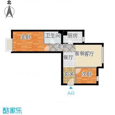 红山世家91.00㎡A户型2室1厅1卫