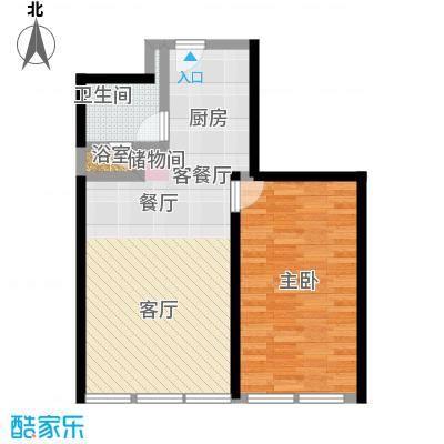 德胜凯旋公寓89.19㎡一室一厅一卫户型