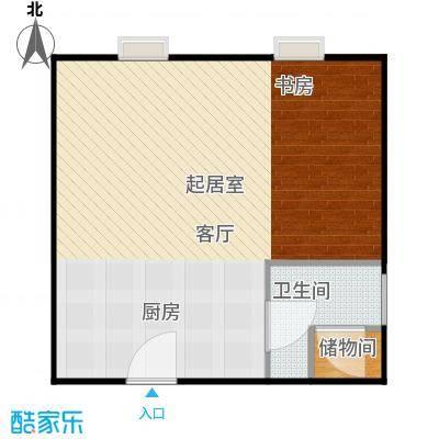 新年华SOHO62.16㎡C1、C2户型一室一厅一卫户型