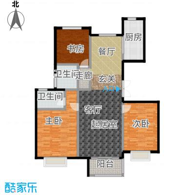 中国铁建・北京山语城135.00㎡D户型3室2厅2卫