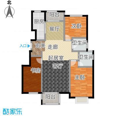 中国铁建・北京山语城118.00㎡B1户型3室2卫1厨