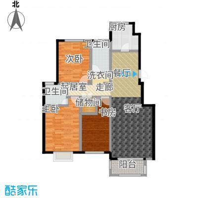 中国铁建・北京山语城115.00㎡B2户型3室2卫1厨