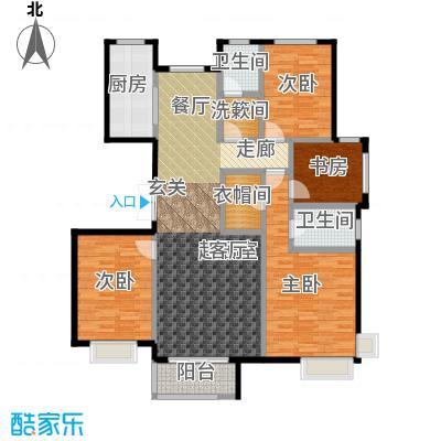 中国铁建・北京山语城160.00㎡E2户型4室2卫1厨