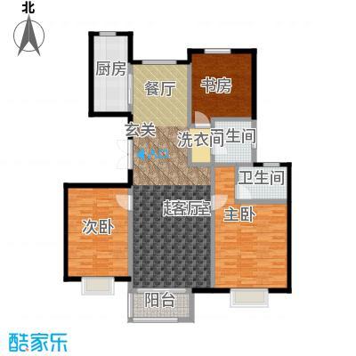 中国铁建・北京山语城135.00㎡D1户型3室2卫1厨