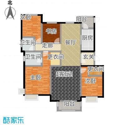 中国铁建・北京山语城160.00㎡E1户型4室2卫1厨
