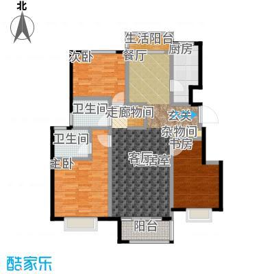 中国铁建・北京山语城C1户型3室2卫1厨