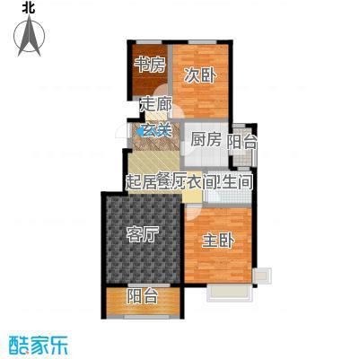 中国铁建・北京山语城97.00㎡A户型3室1卫1厨