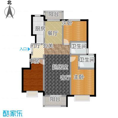 中国铁建・北京山语城123.00㎡C1户型3室2卫1厨
