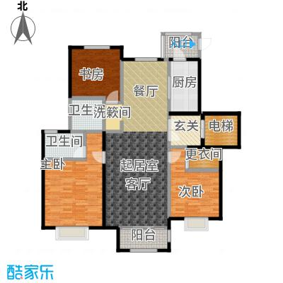 中国铁建・北京山语城138.00㎡D户型3室2卫1厨