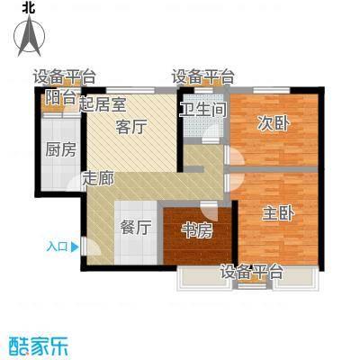 蓝光星华・海悦城88.00㎡A户型三室两厅一卫户型3室2厅1卫