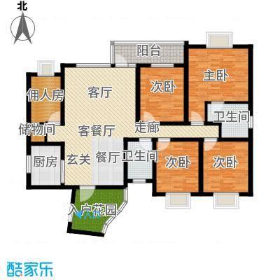 怡祥苑四室两厅两卫户型