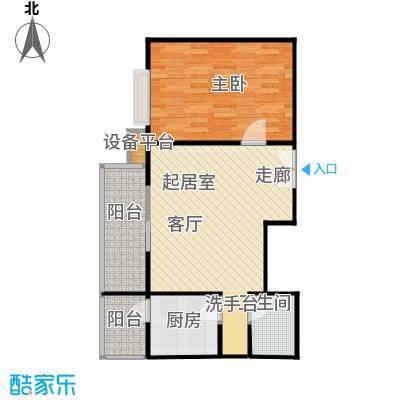 政怡家园62.18㎡一室一厅一卫户型