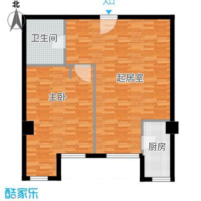 熙公馆81.00㎡K户型1室1卫1厨
