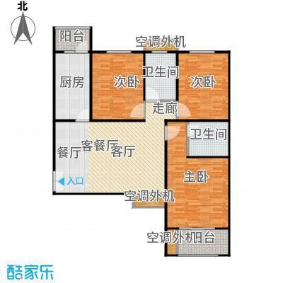 恒隆广场5号楼1单元东户、2单元西户户型