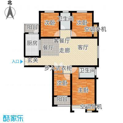 恒隆广场4号楼1单元西户、2单元东户户型