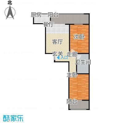 兴业苑建筑面积:111.43m² 两室两厅两卫户型2室2厅2卫