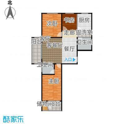 兴业苑建筑面积:120.19m² 三室二厅二卫户型3室2厅2卫