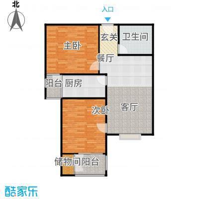 兴业苑B7户型 96.83平米 2室2厅1卫户型