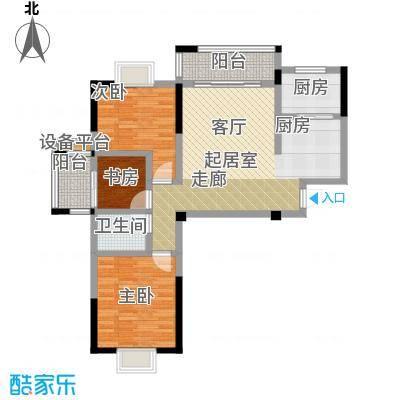 瑞景城户型3室1卫1厨